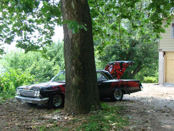 62 Chevy Impala with custom paint