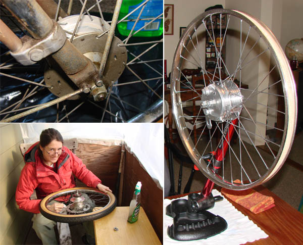 Before and After collage of Cazenave wheel.
